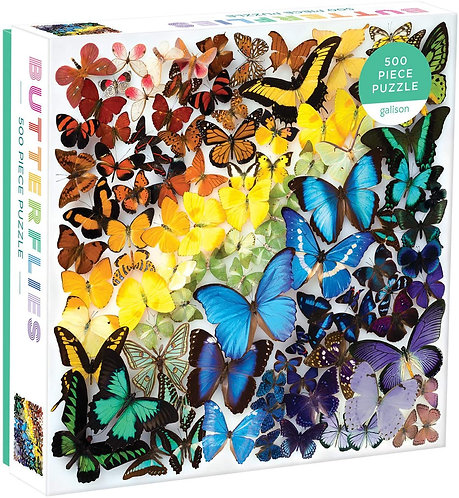 500 Piece Puzzle - Rainbow Butterfly