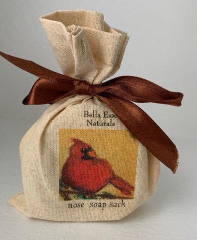 Cardinal Soap Sack - Rose