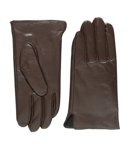 M's Leather Gloves in Brown