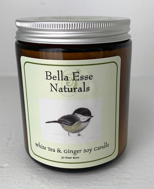 Chickadee Candle - White Tea & Ginger