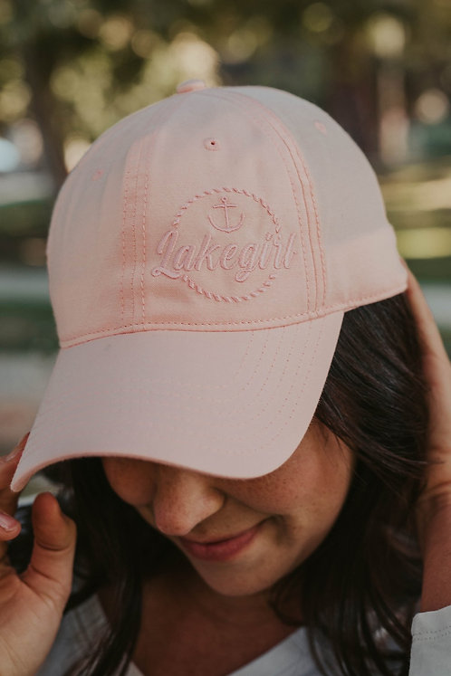 Lakegirl Chambray Hat in Shell Pink