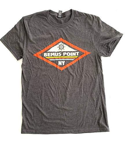 Bemus Point Short Sleeve T-Shirt: Orange Diamond