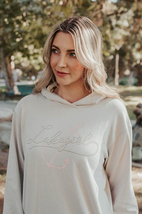 Lakegirl Crossover Hoodie in Cappuccino