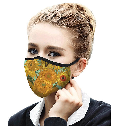 Face Mask by Rain Capers - Van Gogh's Sunflowers
