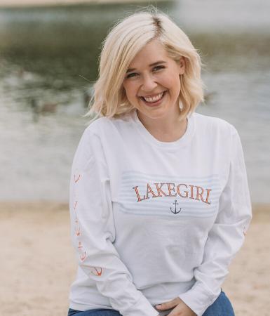 Lakegirl Long Sleeve Tee - Anchor