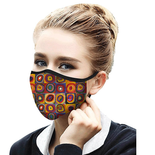 Face Mask by Rain Capers - Kandinsky's Circles
