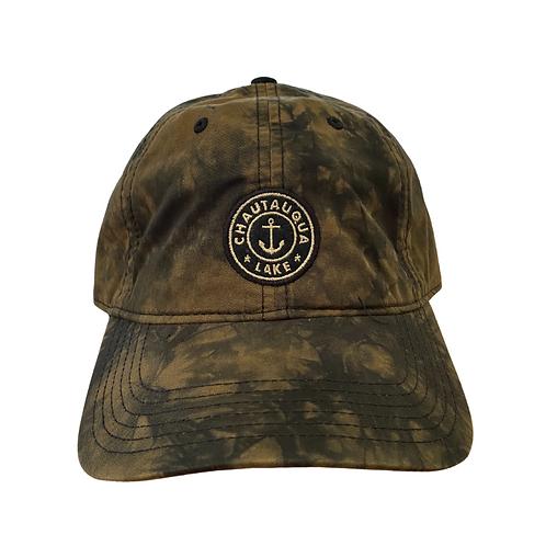 Chautauqua Lake Baseball Hat - Tie Dyed Olive/Black