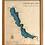 """Thumbnail: 16"""" x 20"""" Laser Cut Map - Chautauqua Lake in Cherry Frame"""