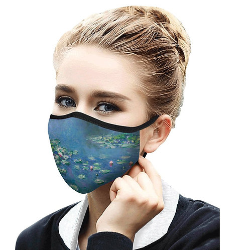 Face Mask by Rain Capers - Monet's Water Lilies