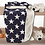 Thumbnail: Sherpa and Fleece Throw Blanket - Navy with Stars