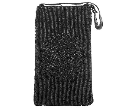 Beaded Crossbody - Night Bloom Black