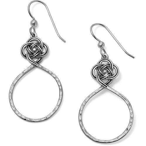 Brighton Interlok Petite Knot Circle French Wire Earrings