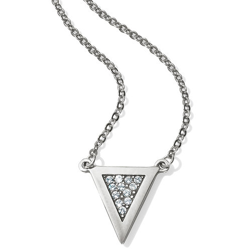 Brighton Contempo Ice Reversible Petite Triangle Necklace