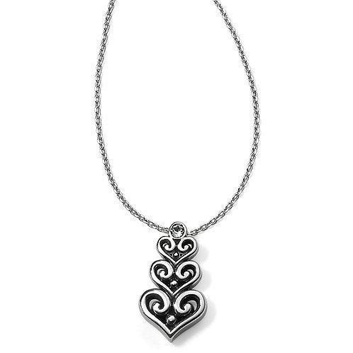 Brighton Alcazar Heart Trio Short Necklace