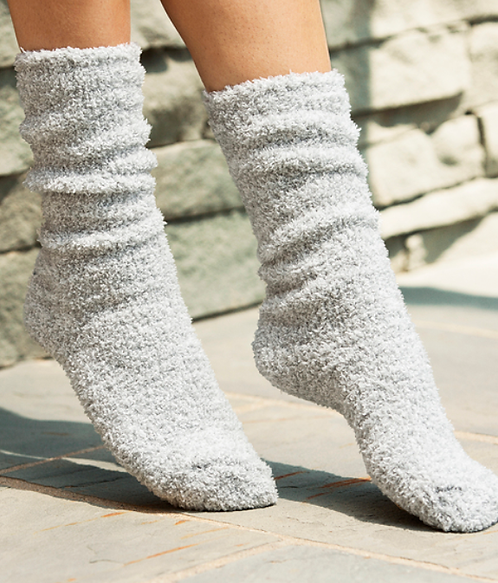Barefoot Dreams Socks in Blue/White