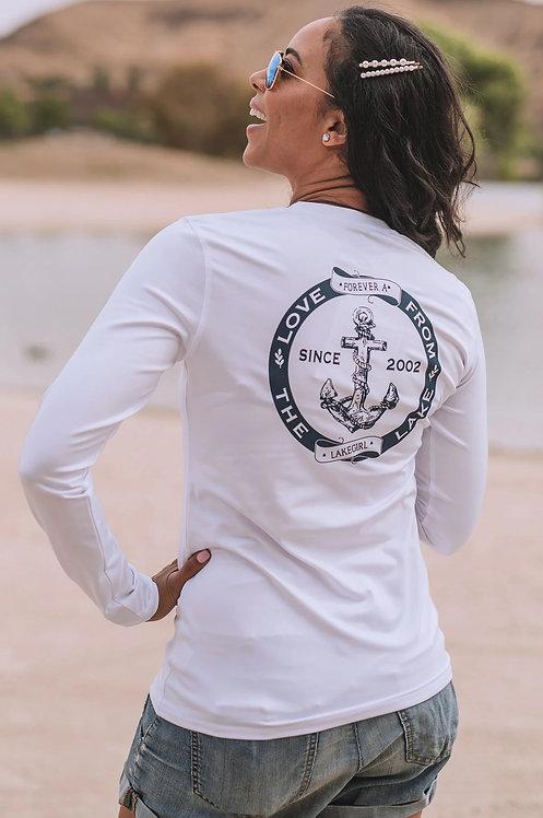 Lakegirl Rash Guard in White