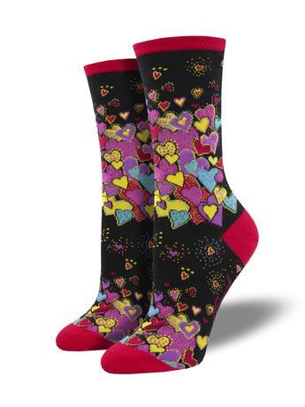 Womens Socks - Laurel Burch's Hearts