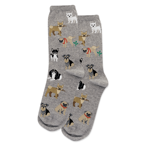 Womens Socks - Dogs of The World