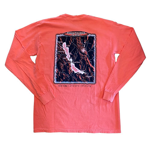 Chautauqua Lake Long Sleeve T-Shirt: Custom Map