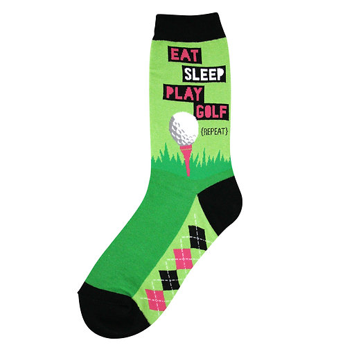 Womens Socks - Eat, Sleep, Golf