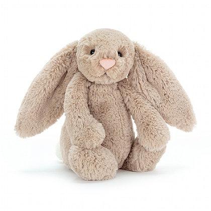 "Jellycat Bashful Beige Bunny Mini - 7"""