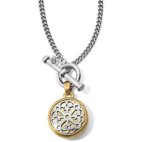 Brighton Ferrara Two Tone Locket Necklace