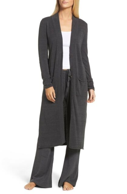 Barefoot Dreams Long Duster with Buttons in Carbon