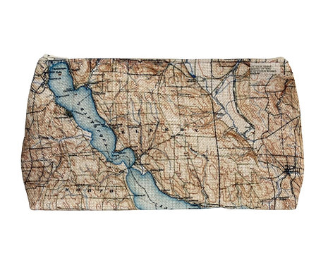 Chautauqua Lake Map Canvas Cosmetic Pouch