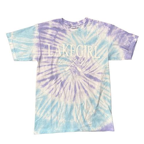 Lakegirl Spiral Tie-Dye Tee in Surf/Periwinkle