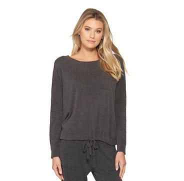 Barefoot Dreams Slouchy Pullover in Carbon