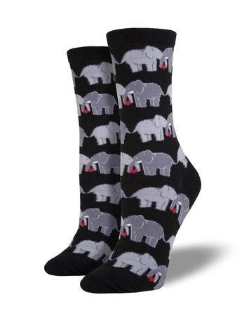 Womens Socks - Elephant Love