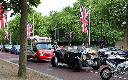 Top Gear Best of British line up The Mall Petersen Blower