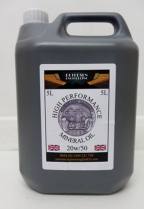 5L High Performance Mineral Oil 20W/50 x4