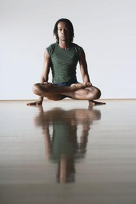 Ballet Dancer in Lotus Position