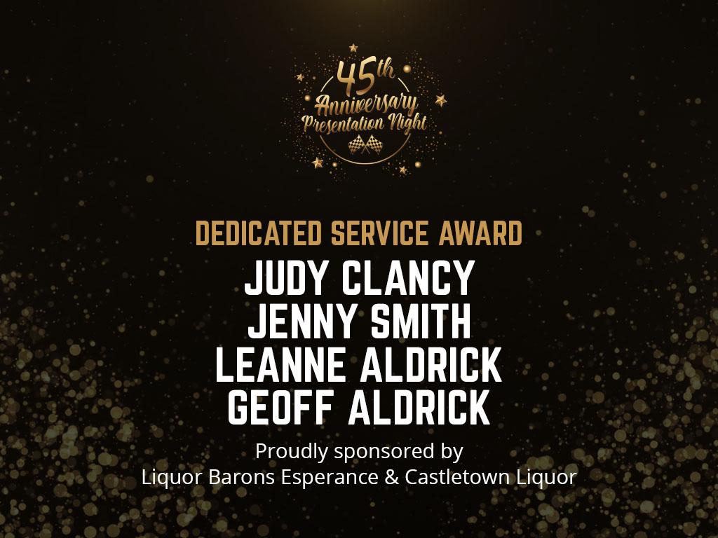 DEDICATED SERVICE AWARDS