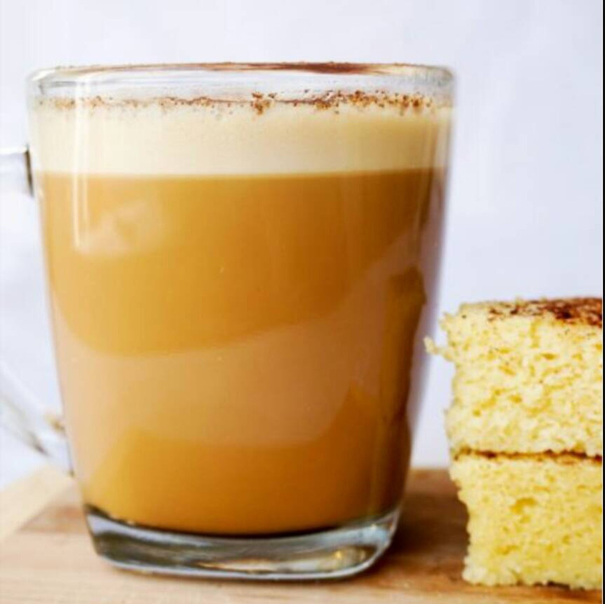 Keto Coffee with healthy Snacks