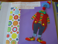 Clown Scrapbook Project Page