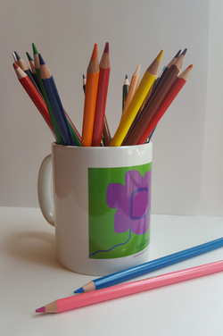Let's Draw a Story Flower Logo Mug