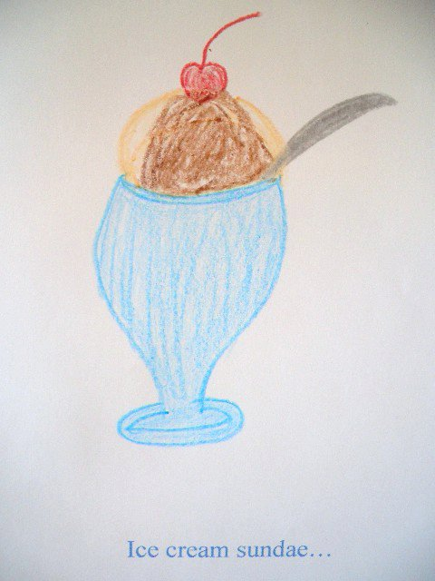 Ice Cream Sundae Drawing