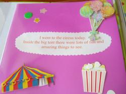 Circus Story Scrapbook