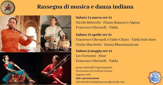 In Florence, dancing for Indian music concerts