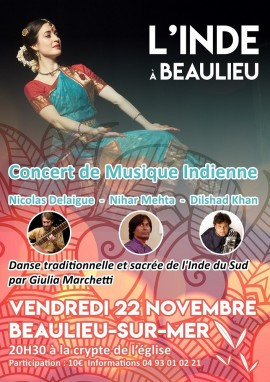 Dancing in Cote d'Azur, with the concerts of Nihar Mehta and Nicolas Delaigue