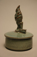 """Small Covered Container 4""""x7"""""""