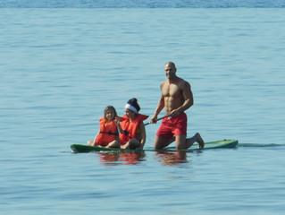Atlanta Fitness expert Matthew Callahan paddle boards Perdido