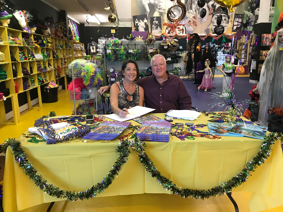 Book signing for The Mardi Gras Boat Parade happening now at Toomey's Mardi Gras in Mobile!