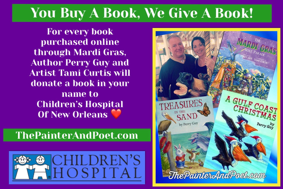 "Many thanks to Fox News in Nola for covering our ""You Buy a Book, We Give a book"" campaign to put ""T"