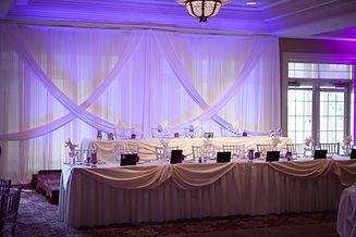 Head Table Backdrop & Uplighting