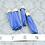 Thumbnail: Blue Suede Gold-tone Tassel Large