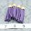 Thumbnail: Violet Suede Gold-tone Tassel Large