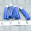 Thumbnail: Blue Suede Silver-tone Tassel Large